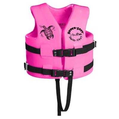 TRC Recreation Super Soft USCG Childs Vinyl-Coated Foam Swim Vest, Small, Pink