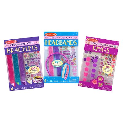 Melissa /& Doug Design-Your-Own Headbands Jewelry-Making Kit With 50 Stickers