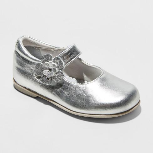 Toddler Girls' Rachel Lil Dawn Ballet Flats - Silver 8 - image 1 of 3