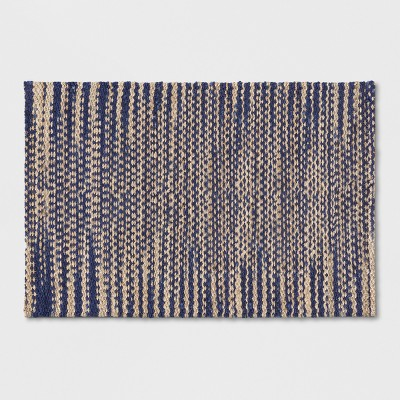 Indigo Tie Dye Design Flatweave Woven Accent Rug 2'X3' - Threshold™