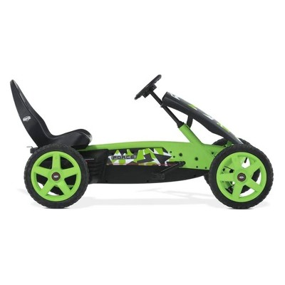 BERG Rally Force Childrens Toy Pedal Go Kart with Adjustable Seat and Steering Wheel for Boys Girls Kids Ages 4 to 12, Green Camouflage