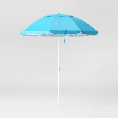 7' Beach Sand Umbrella - Blue - Sun Squad™
