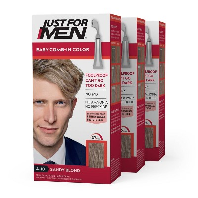 Just For Men Easy CombIn Color Gray Hair Coloring for Men with Comb Applicator - 3pk