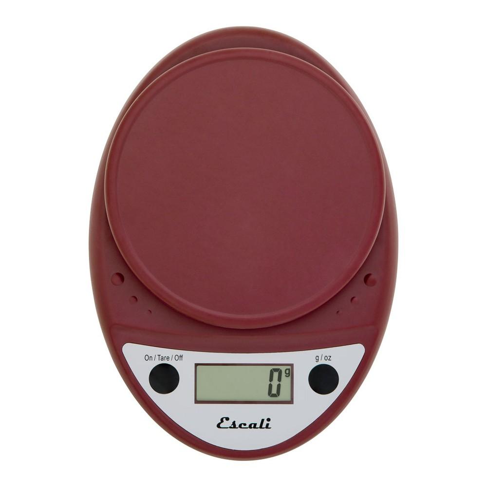 Escali Primo Digital Scale - 11lb capacity - Red