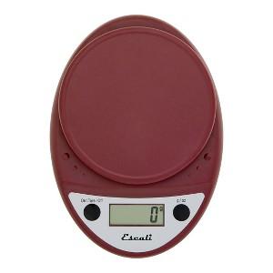 Escali Primo Digital Kitchen Scale Red