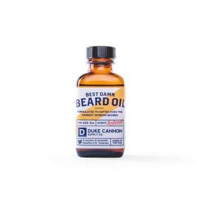 Duke Cannon Best Damn Redwood Beard Oil - 3oz
