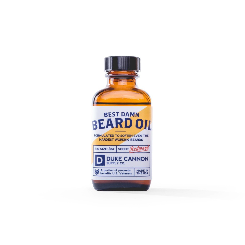 Image of Duke Cannon Best Damn Redwood Beard Oil - 3oz