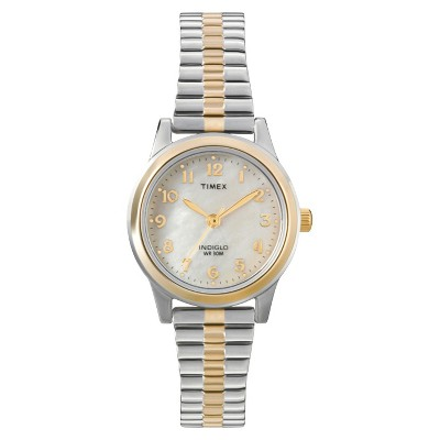 Women's Timex Expansion Band Watch - Two-Tone/Mother of Pearl T2M828JT