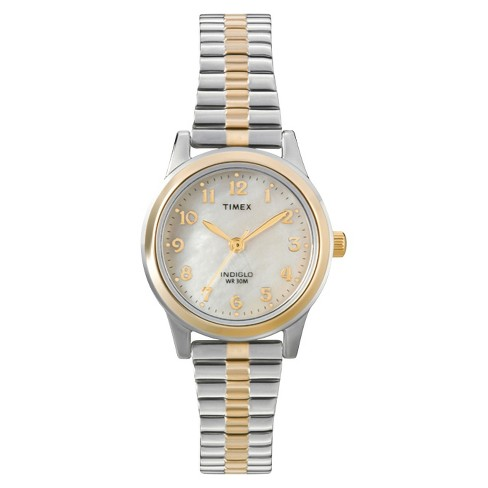 Women's Timex Expansion Band Watch - Two Tone/Mother of Pearl T2M828JT - image 1 of 1