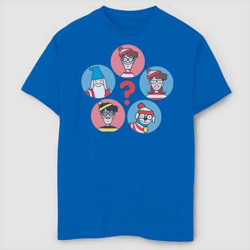 Boys' Where's Waldo Group Shot T-Shirt - Royal Blue - image 1 of 2