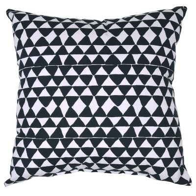 Outdoor Throw Pillow Square - Micro Triangle Black - Project 62™
