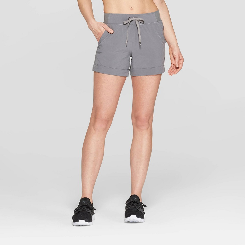 Women's Woven Mid-Rise Shorts - C9 Champion Dark Grey Xxl