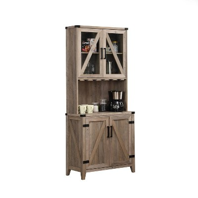 Wall Bar Cabinet with Glass Doors - Home Source