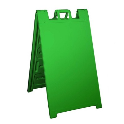 Plasticade Signicade Portable Folding Sidewalk Double Sided Sign Stand, Green