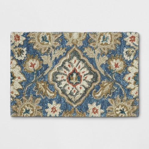 Jacobean Floral Tufted Rug Threshold Target