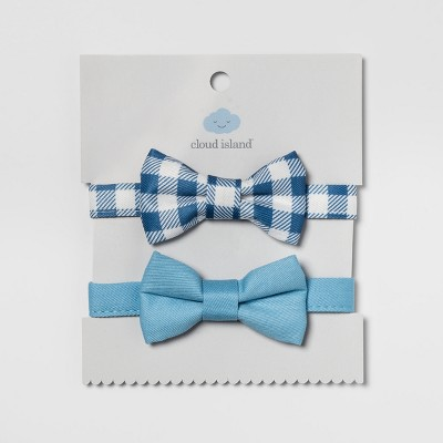 Baby Bow Ties 2pk - Cloud Island™ Navy/Blue