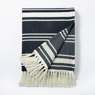 Woven Throw Blanket Navy - Threshold™ designed with Studio McGee