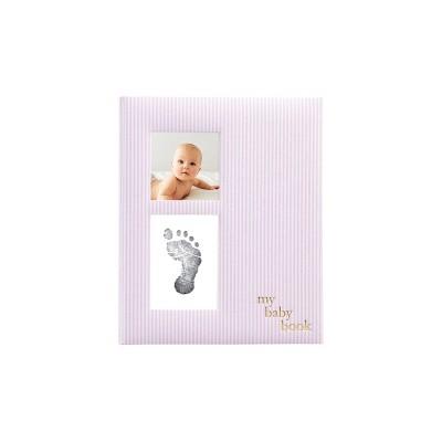 Pearhead Pink Striped Babybook