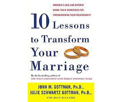 Ten Lessons to Transform Your Marriage : America's Love Lab Experts Share Their Strategies for - image 1 of 1