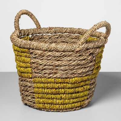 Decorative Basket Natural Yellow 12.2 x12  - Opalhouse™