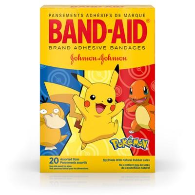 Pokemon Band-Aid Brand Adhesive Bandages Pokémon - Assorted Sizes - 20ct