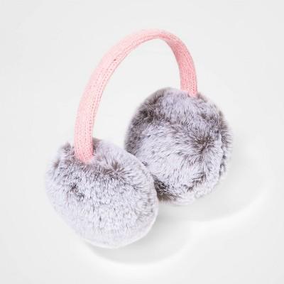 Girls' Faux Fur Earmuffs - Cat & Jack™ Gray One Size