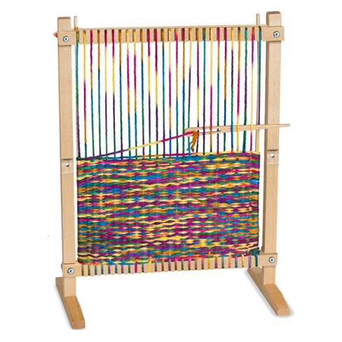 Melissa & Doug® Wooden Multi-Craft Weaving Loom: Extra-Large Frame (22.75 x 16.5 inches) - image 1 of 13