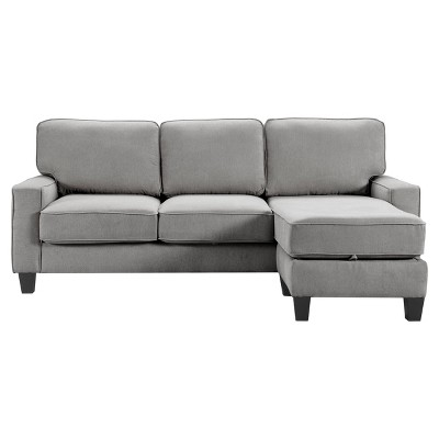 "86"" Palisades Reversible Small Space Sectional with Storage - Serta"