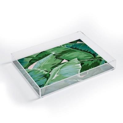 Gale Switzer Banana Leaf Grandeur II Acrylic Tray - Deny Designs