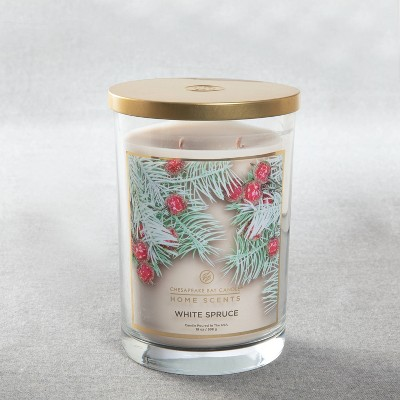 Glass Jar White Spruce Candle - Home Scents