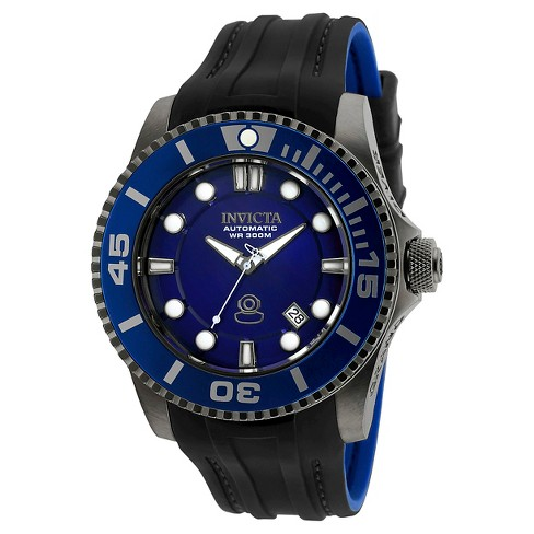 Men's Invicta 20204 Pro Diver Automatic 3 Hand Blue Dial Strap Watch - Blue - image 1 of 1