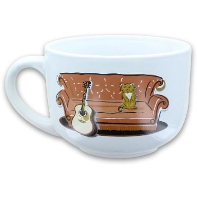 Silver Buffalo Friends Smelly Cat Central Perk 24oz Ceramic Soup Mug w/ Lid