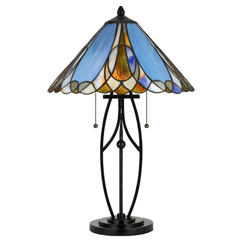 Cal Lighting 60W X 2 Tiffany Table Lamp - image 1 of 2