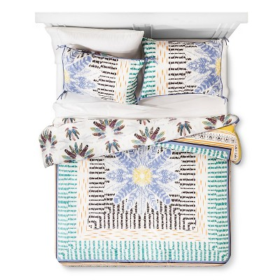 Wild at Heart Feather Print Reversible Comforter Set (King)3pc - Boho Boutique™