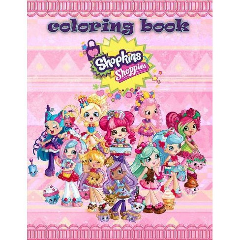 Shopkins Shoppies Coloring Book - by Mrs Fox (Paperback)