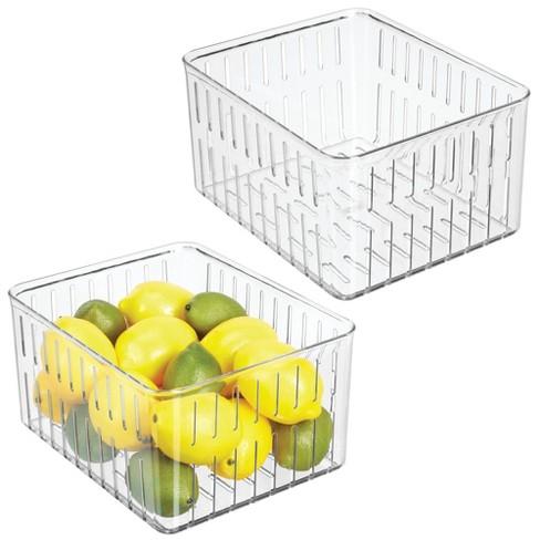 mDesign Vented Fridge Storage Bin Basket for Fruit, Vegetables, X-Large - image 1 of 4