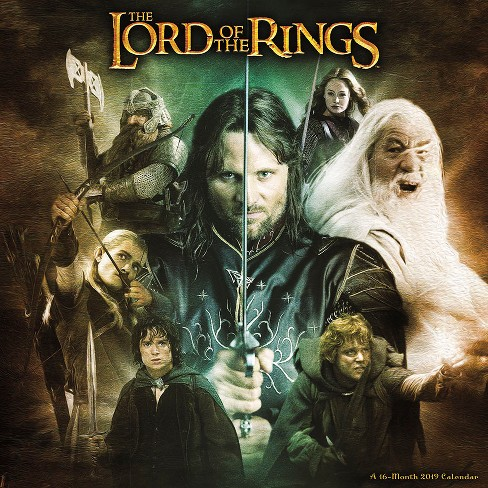 2019 Wall Calendar Lord of the Rings - Trends International - image 1 of 4