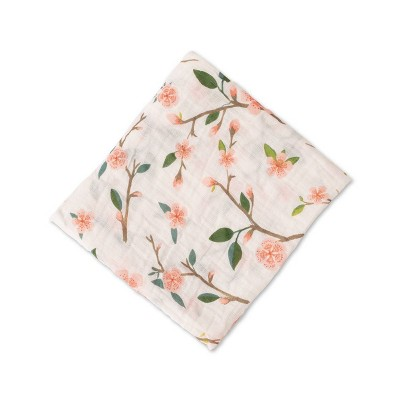 Red Rover Cotton Muslin Single Swaddle - Peach Blossom