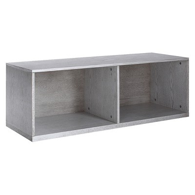 "14"" Cain Stackable Bookshelf Smoke Gray - Hives & Honey"
