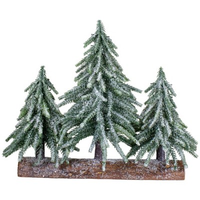 Northlight Set of 3 Frosted Pine Downswept Artificial Christmas Trees Decoration