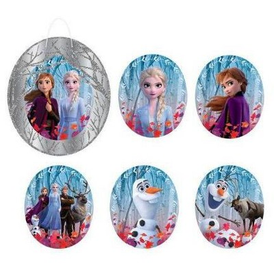 Birthday Express Frozen Party Frozen 2 Glitter Wall Frame Decoration Kit - 7 Count