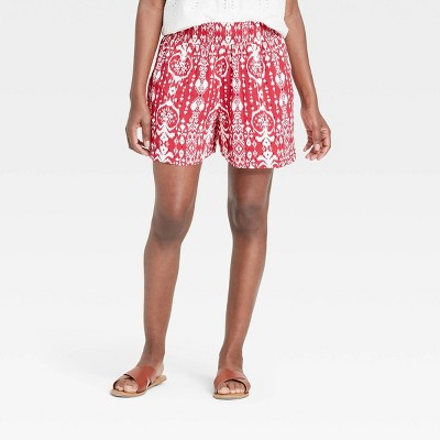 Women's Ikat Print Smocked Waist Shorts - Knox Rose™