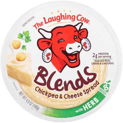 The Laughing Cow Blends Chickpea & Cheese Spread with Herb - 4.94oz/8ct Wedges