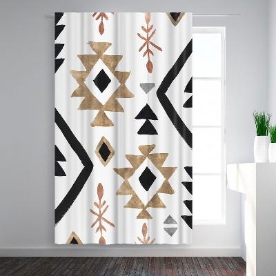 Americanflat Rhythemics I by PI Creative Art Blackout Rod Pocket Single Curtain Panel 50x84