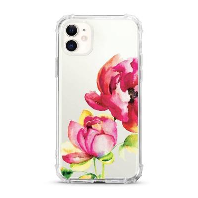 OTM Essentials Apple iPhone 11 Clear Case - Brilliant Bloom Red