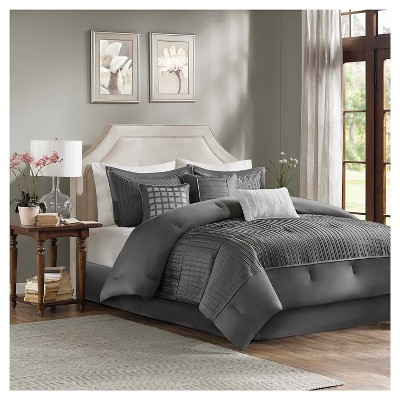 Gray Vargas Comforter Set Queen 7pc