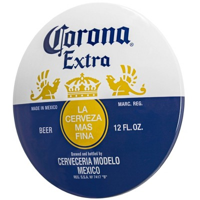 Corona Extra Dome Shaped Metal Sign Wall Decor White/Dark Blue - Crystal Art Gallery