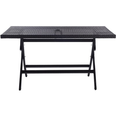 Akita Patio Folding Dining Table  - Safavieh