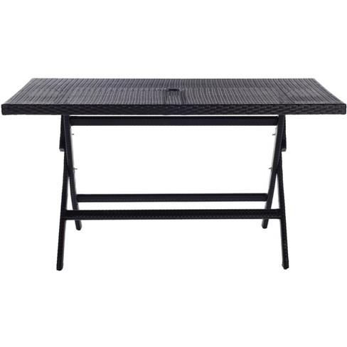 Akita Patio Folding Dining Table  - Safavieh - image 1 of 4