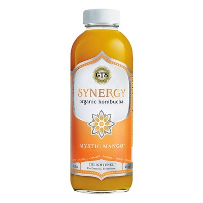 view G.T.'s Synergy Mystic Mango Organic Vegan Kombucha - 16 fl oz Bottle on target.com. Opens in a new tab.